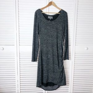 Sunday in Brooklyn ruched knit long sleeve dress